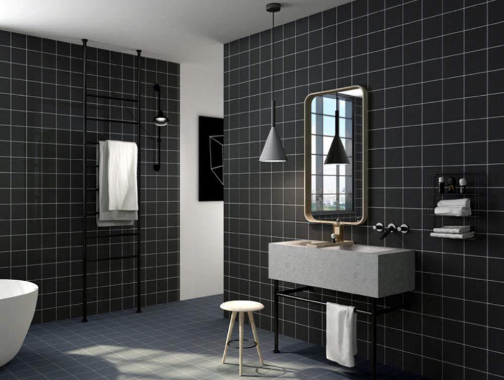 black/_White Wallpaper Nordic wind ins papel no tejido no tejido blanco y negro gris a cuadros tienda de ropa l/ínea papel pintado a cuadros