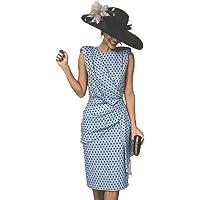 Vestido De Cóctel Lunares Sin Mangas Elegantes Vintage Verano Lápiz Vestidos De Fiesta Mujer Cortos
