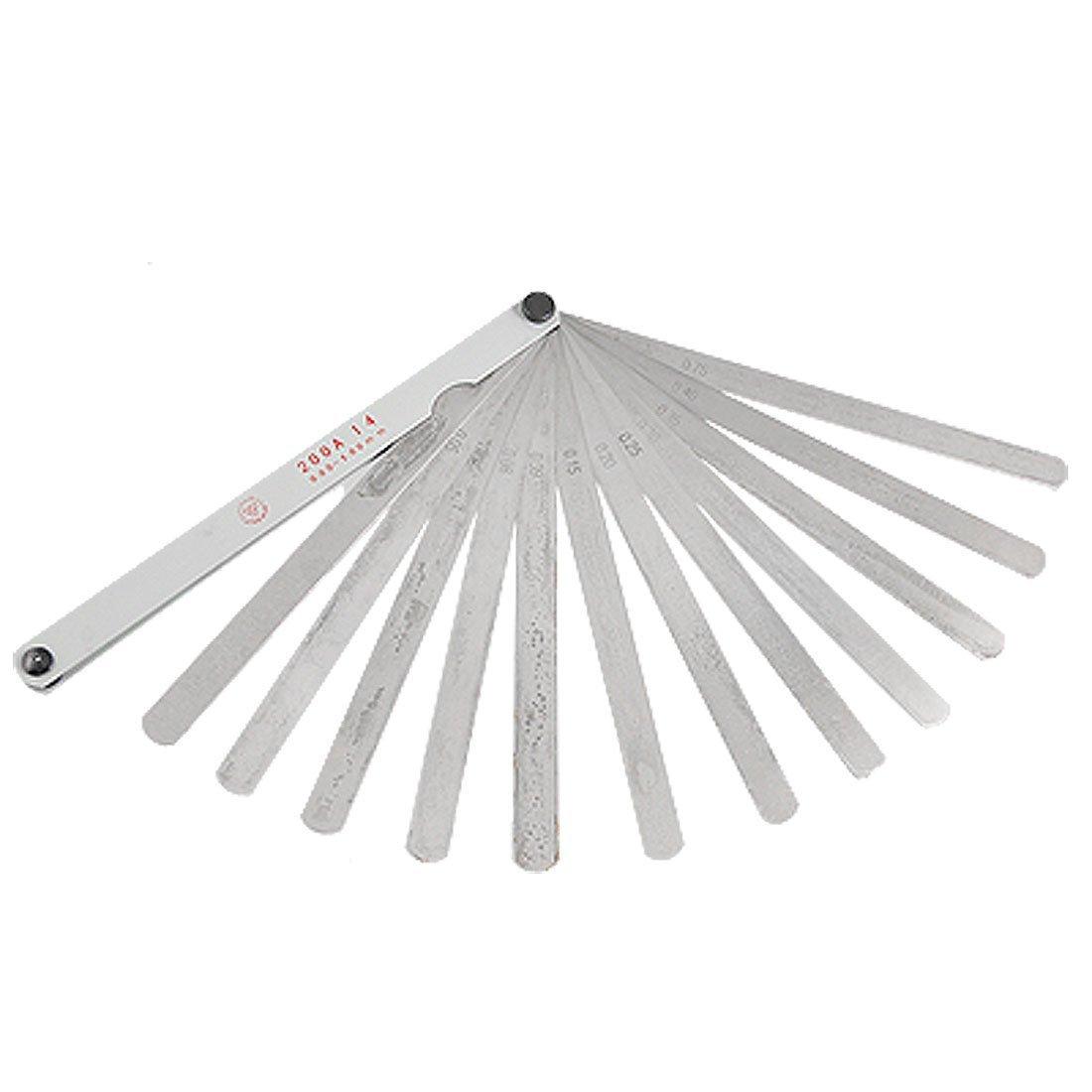 21, 5 cm Longueur 0, 05– 1 mm mé trique Gap jauge d'é paisseur Mesure Outil 5cm Longueur 0 05-1mm métrique Gap jauge d' épaisseur Mesure Outil Sourcingmap a11090500ux0032