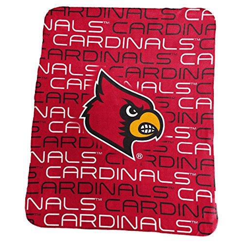 Logo Brands NCAA Louisville Cardinals Classic Fleece, One Size, Red (Louisville Cardinals Ncaa Plush)