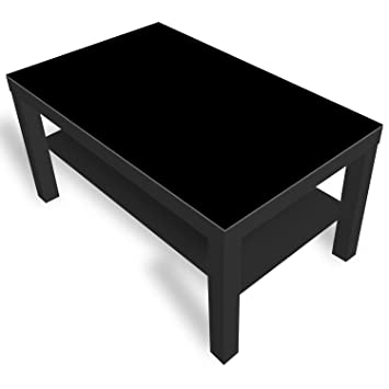 Dekoglas Ikea Lack Beistelltisch Couchtisch Einfarbig Schwarz