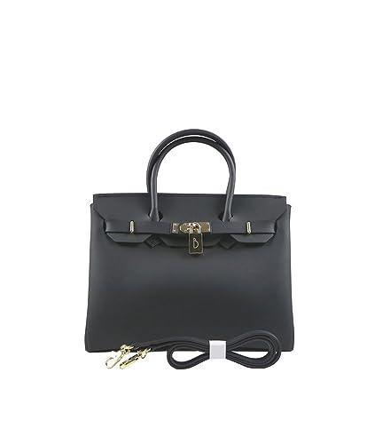 DKLZY Women s Handbags Solid Color Matte Jelly Birkin Bag (Black ... c843f0852