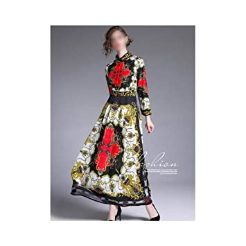 ZSRHH-Falda Vestido de Mujer Vestido Grande con Vuelo de Solapa ...