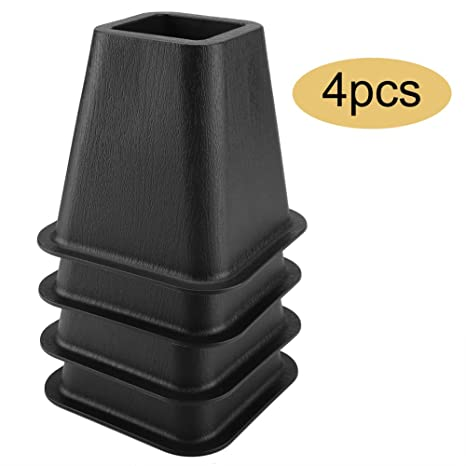 Astounding Gototop Black Bed Risers Or Furniture Risers Table Risers Chair Risers Or Sofa Risers The Perfect Bed Risers For Dorm Rooms Set Of 4 Machost Co Dining Chair Design Ideas Machostcouk
