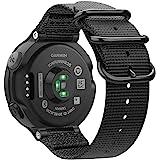 Fintie for Garmin Forerunner 235 Watch Band, Soft Nylon Sport Straps Watch Bands for Garmin Forerunner 235/220/230/620/630/735XT, Black