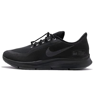 Nike Mens Pegasus 35 Shield Black/Anthracite/Dark Grey Mesh Running Shoes 11 M