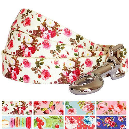 blueberry-pet-durable-spring-scent-inspired-pink-rose-print-ivory-dog-leash-4-ft-x-1-large-leashes-f