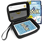 FitSand(TM) Carry Travel Zipper EVA Hard Case for Rook Card Game - Black Box, Blacker Box, Best Protection for Rook Cards