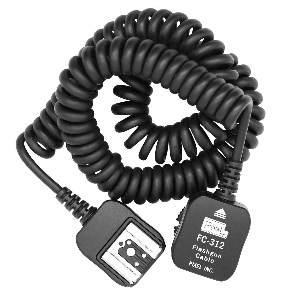 Pixel FC-312/10M Off-Camera Flash Synch Cable For Nikon SB-910,SB-900,SB-800,SB-700,SB-600,D3X, D3, D700, D2, D300, D200,D90, D80, D7