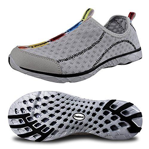 FEETMAT Men's Outdoor Walker Quick Drying Water Shoes,gray,9.5 D(M) US