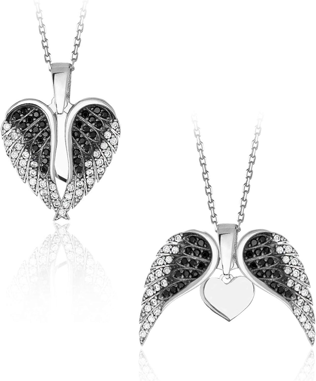Sterling Silver Rhodium Two Stone Twist Bail 18 Fashion Necklace