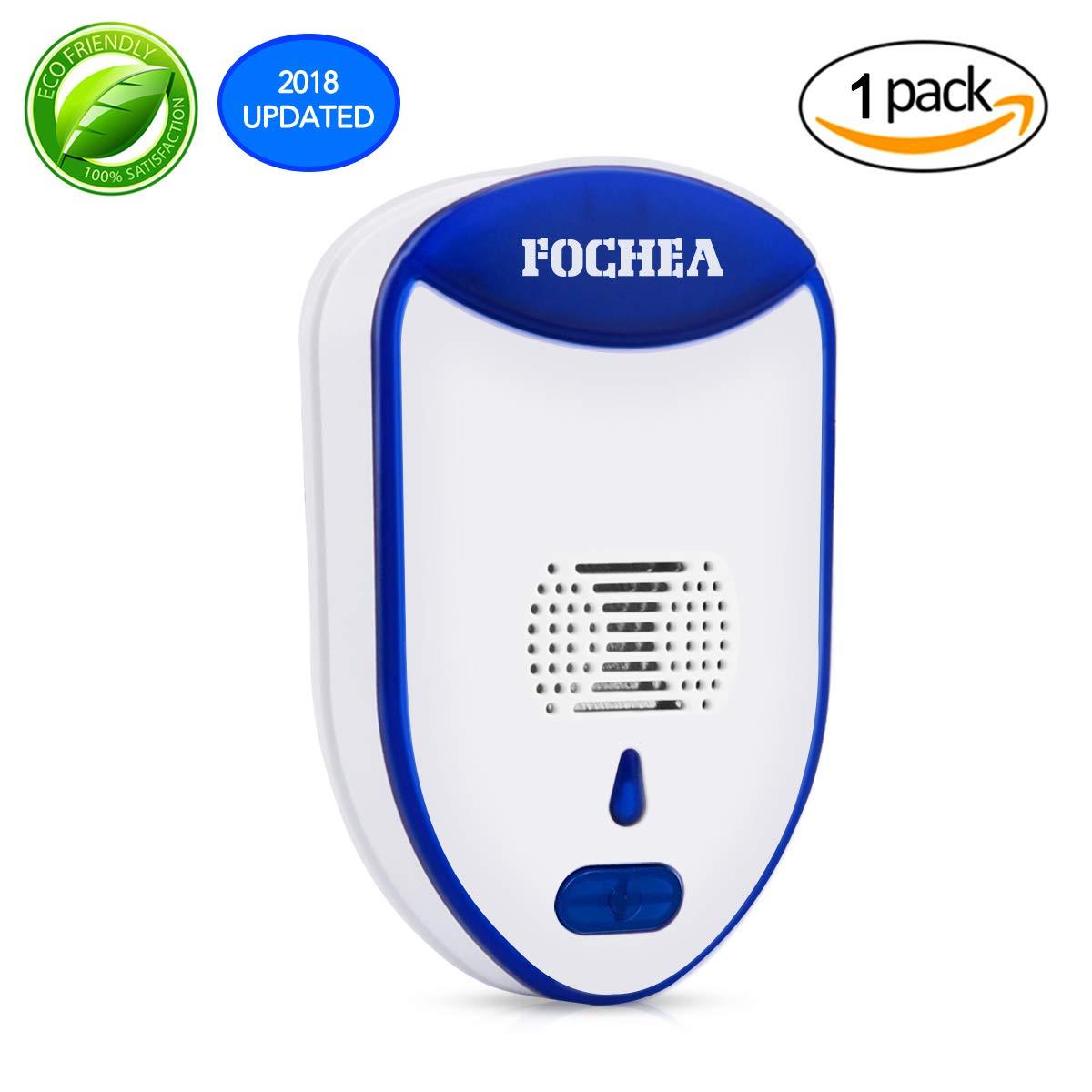Fochea Repelente Ultrasónico de Plagas Repelente Insectos Electrónico Enchufable, Control de Plagas para Interiores para
