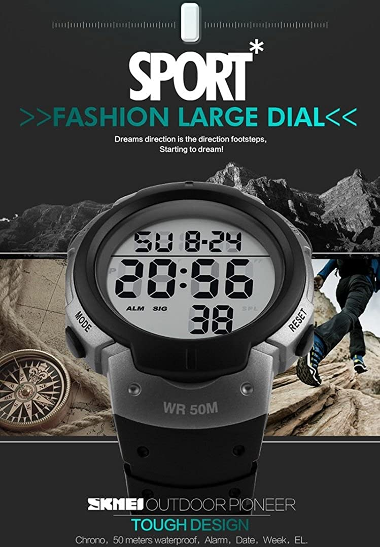 Buy Skmei Led Military Water Resistant Alarm Day Date Digital Grey S Shock Sport Watch 50m Dg1025 Dial Stopwatch With Titanium Case Skm 1068 Online At Low Prices In India