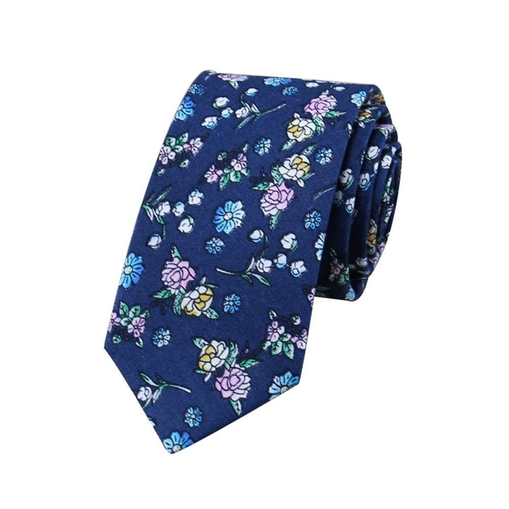 Gespout 5artículo Corbata de Algodón Estampado Floral de Hombre ...