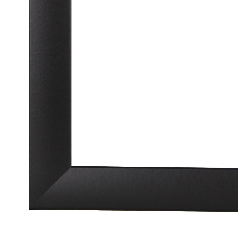 PN35 Bilderrahmen 84x117 cm in Schwarz matt mit entspiegelten Acrylglas