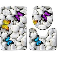 Yililay 3D Piedra Impreso WC 3 Piezas del