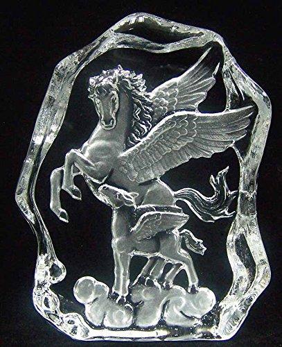 Crystal 24% Lead Award - Engraved Lead Crystal -- Flying Horses