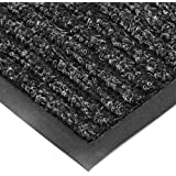 "NoTrax T39 Bristol Ridge Scraper Carpet Mat, for Wet and Dry Areas, 3' Width x 6' Length x 3/8"" Thickness, Midnight"