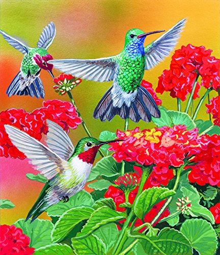 Hummingbirds and Flowers 550 pc Jigsaw Puzzle by SunsOut
