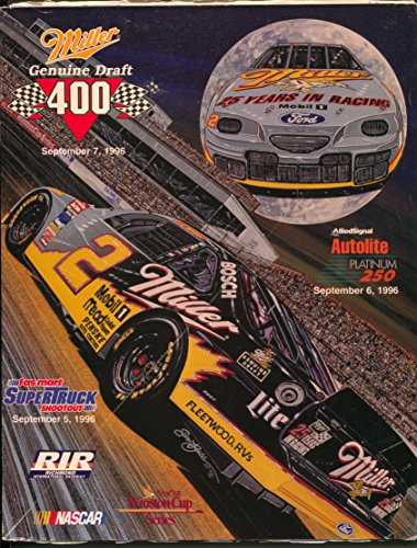 Richmond Int'l Raceway NASCAR Auto Race Program 9/6/1996-Sam (Sam Bass Nascar)