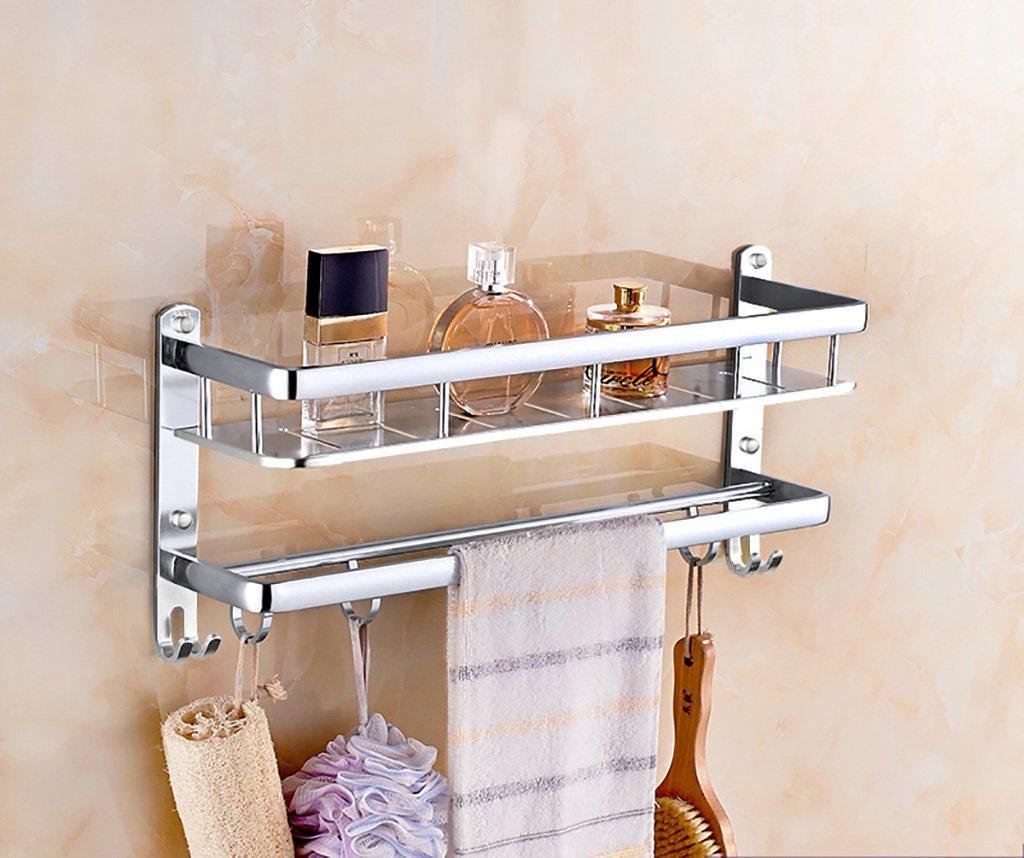 タオル掛け ガラス棚スペースアルミタオルネットバスルーム棚壁ミラー タオルスタンド (サイズ さいず : 60 cm 60 cm) B07FGD6Q2B60 cm 60 cm