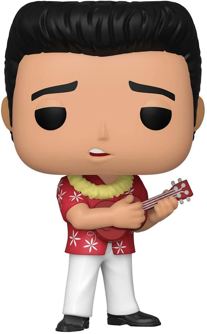 Funko- Pop Rocks: Elvis-Blue Hawaii Figura Coleccionable, Multicolor (40139)