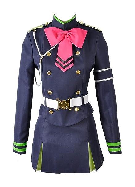 Serafín del final Shinoa Hiragi uniforme Militar con capa ...