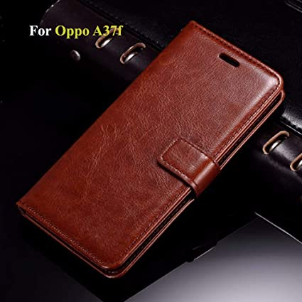 new product b8049 961d7 Thinkzy OP2LE2 Flip Case Cover for Oppo A37f (Brown)