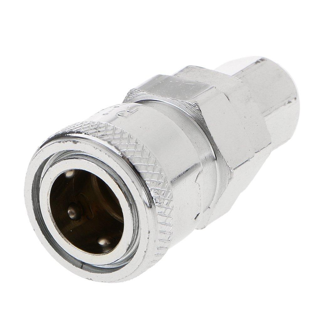 LOVIVER L/ínea de Aire Accesorios de Acoplamiento Conector de Manguera de Acoplamiento Macho//Hembra para Compresor 5pcs PM20