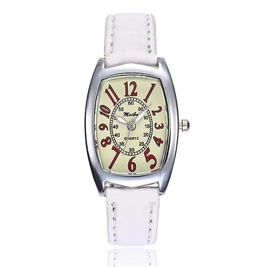 Relojes Unisexo,❤LMMVP❤Relojes de pulsera redondos del cuarzo del análogo de la