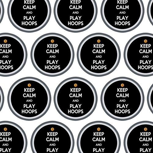 Premium Gift Wrap Wrapping Paper Roll Keep Calm and P-Y - Play Hoops Basketball - Keep Calm -