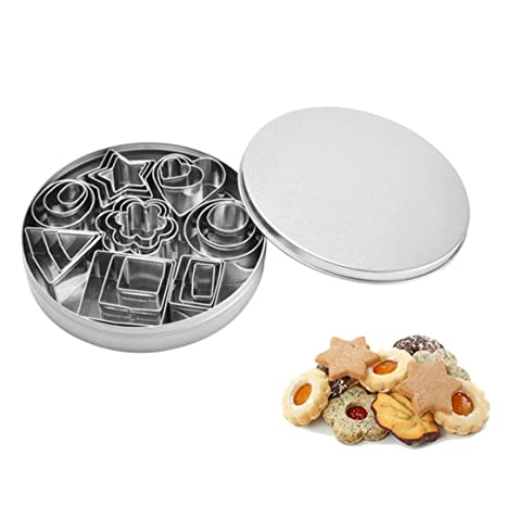 Cookie Cutter molde para tartas de acero inoxidable 24 piezas para galletas Chocolate saladssushi molde DIY