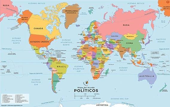 espagne carte du monde