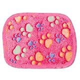 Yoyorule Hamsters Pad Blanket Pet Cat Mat Dog Puppy Warm Bed Paw Pattern Cover