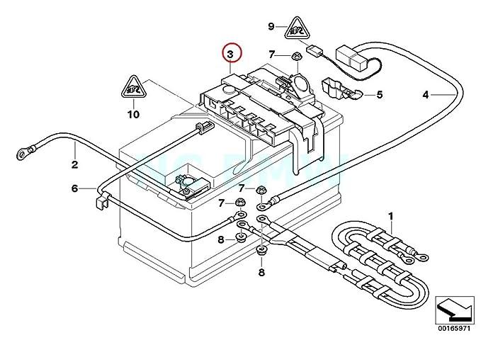 Amazon Com Bmw Genuine Power Distribution Box W Fuse Automotive