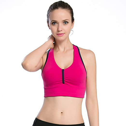 f7868c4ec Image Unavailable. Image not available for. Color  MU MU Women s Racerback  Sports Bra Full-Support Sports Bra High Impact Workout Gym Yoga Bra