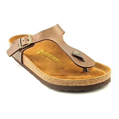 Birkenstock Gizeh Damen Leder Riemen Sandalen Schuhe Ohne