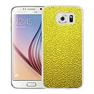 Beautiful Samsung Galaxy S6 Cover Case ,Minimal Golden Texture Background White Samsung Galaxy S6 Phone Case Unique And Durable Designed Screen Case