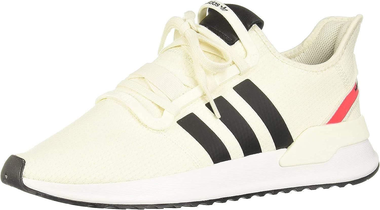 adidas U_Path Run, Baskets Homme Blanc Cassé Noyau Noir et Rouge 10013283