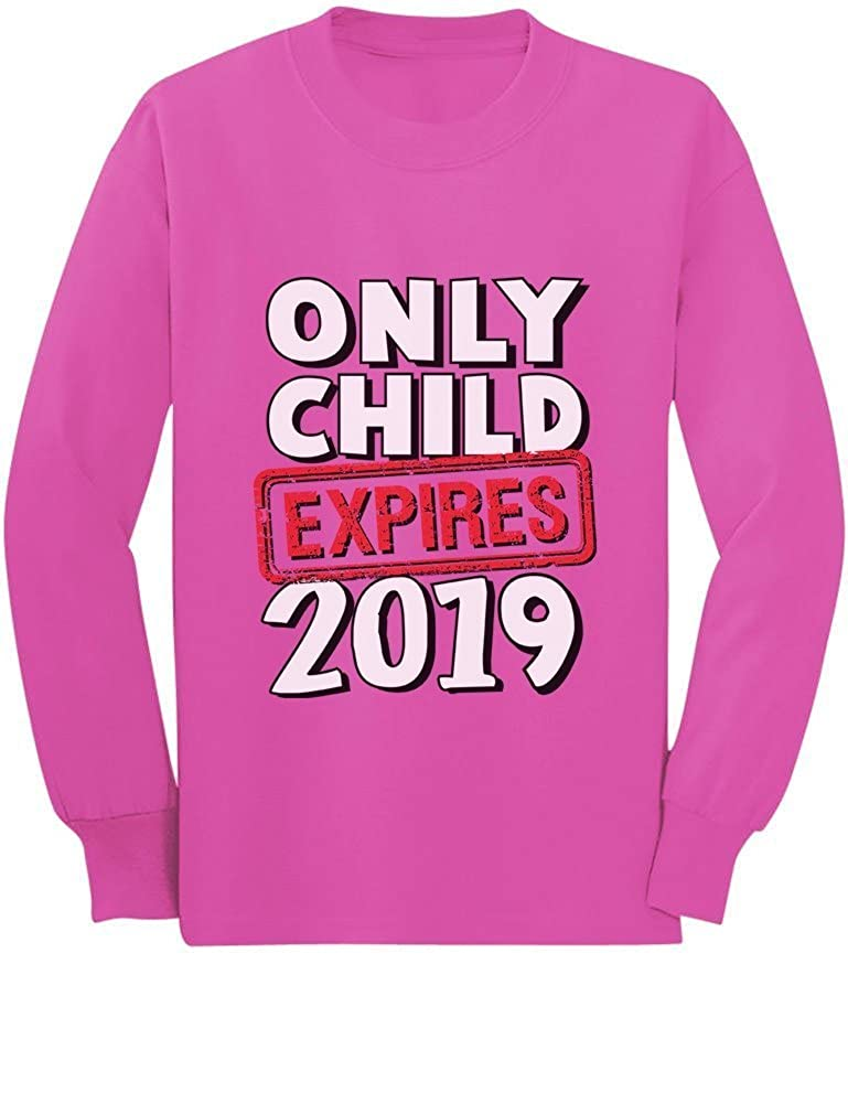Funny Only Child Expires 2019 - Elder Sibling Toddler/Kids Long Sleeve T-Shirt GaMPthPgC5