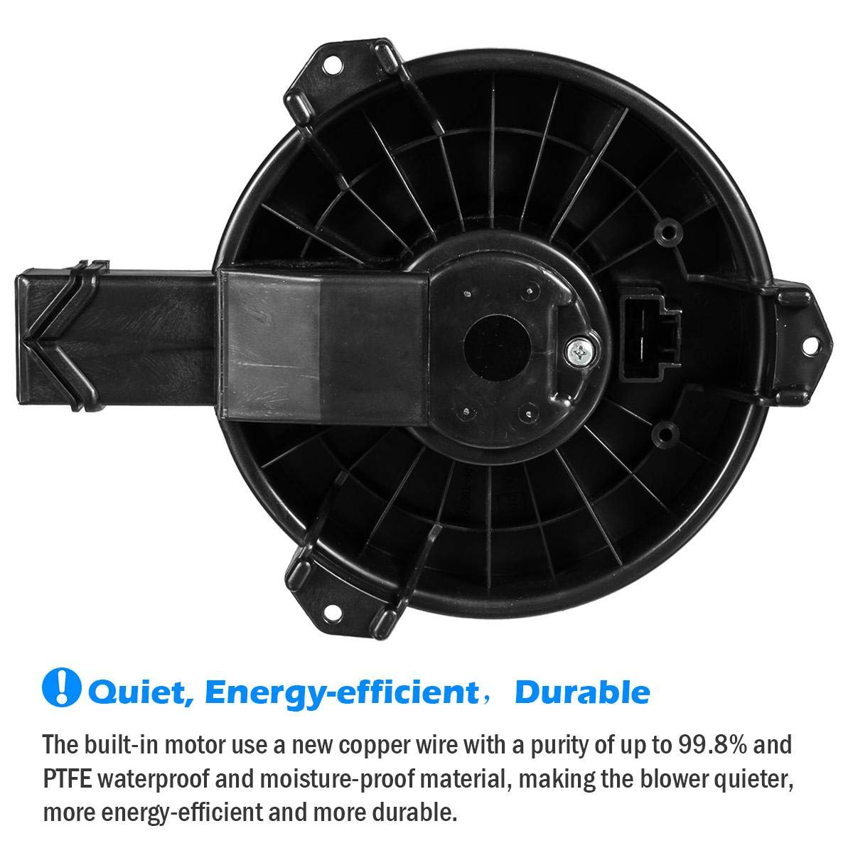 AUTEX HVAC Blower Motor Assembly Compatible with Honda Accord 2013-2017 Heater Blower Motor Air Conditioner with Fan Cage 700260 79310T0AA01 HO3126115