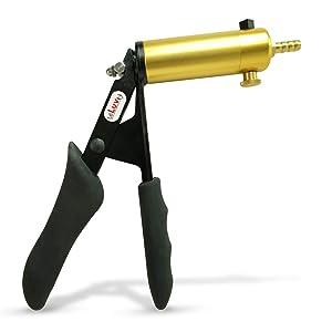 LeLuv Vacuum Pump LeLuv Ultima Premium Steel and with Release Valve Black Silicone Grip