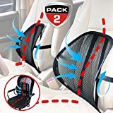 Maxxprime Mesh Lumbar Support 2 Pack Double Mesh Air Flow Breathable Back Rest for Use in Car Home and Office