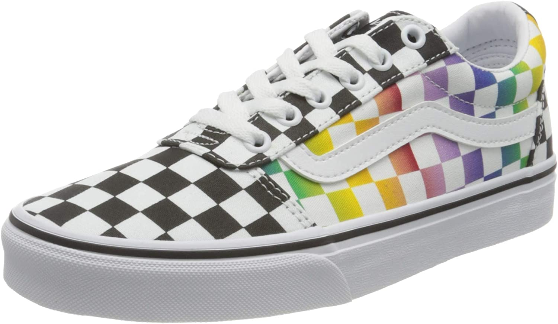 Vans Women's Ranking TOP10 Ward Canvas Spasm price Sneaker Black White Rainbow Check 9