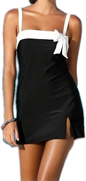 Robe Bustier Femme Mod Mer Tres Chic Noir Et Blanc Xl Amazon Fr Vetements Et Accessoires