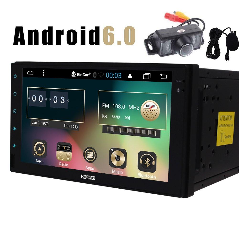 Car Dash Android Autoradio 6.0 Quad Core Headunit HD 1080P Double Din 7 pouces stéréo Radio Navigation GPS UNIVERSAL FM AM RDS EQ Affichage AUX 3G / 4G WIFI OBD2 SWC tactile Caméra de recul de l'écr