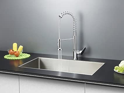 ruvati rvc1321 stainless steel kitchen sink and chrome faucet set rh amazon com