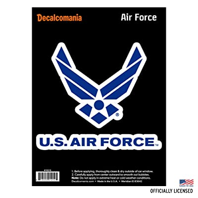 "Officially Licensed U.S. AIR FORCE - Large 5.5"" US Military Sticker for Truck or Car Windows - Large Military Car Decals Military Collection : Automotive"