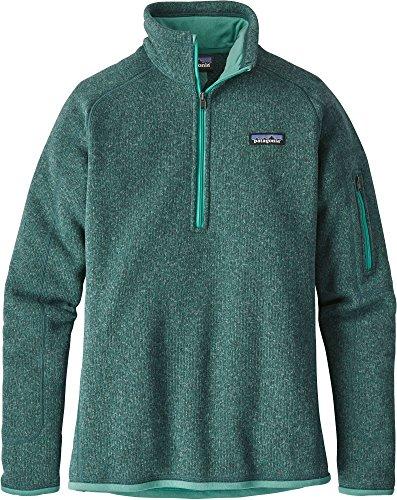 Patagonia Women's Better Sweater Quarter Zip Fleece Jacket (XS, Beryl Green/Beryl Green) by Patagonia