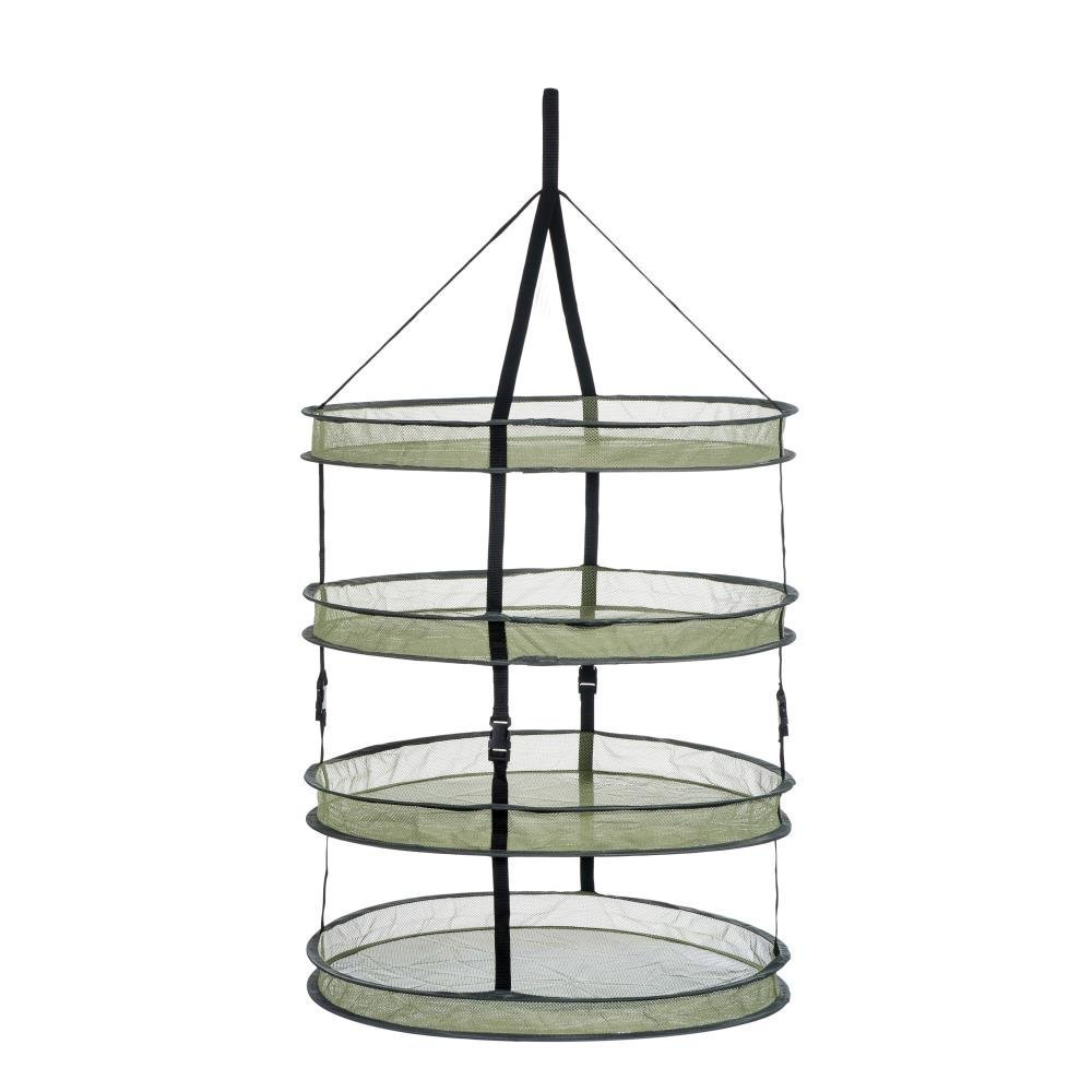 A1KINGDOM 2ft 4 Layer Upgrade Collapsible Mesh Hanging Hydroponic Plant Drying Rack Net (2L4)